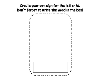 Letter M Write the Room- Includes 3 levels of answer sheets