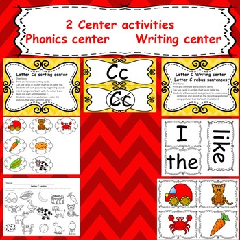 Letter C : Emergent Readers/ centers/ worksheets