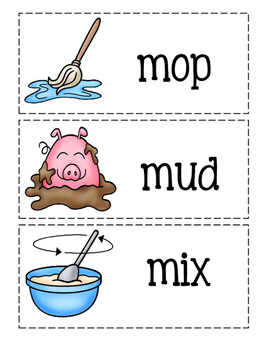 Letter M~Picture Word Cards