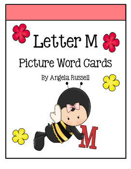 Letter M - Picture Word Cards