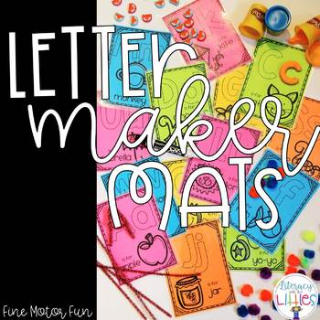 Letter Maker Mats {Fine Motor Skills Fun}