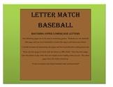 Letter Match Baseball
