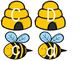 Letter Match Bee Hives