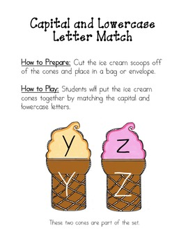Letter Match - Capital and Lowercase Letters