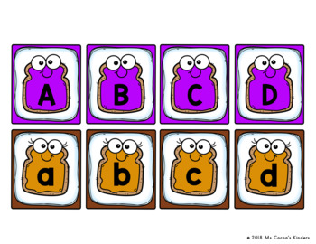 Letter Match Game - PB and J Friends