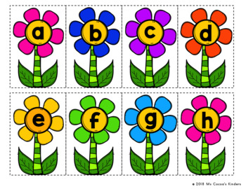 Letter Match Game - Spring Flowers