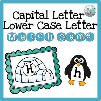 Letter Match Game - Winter Peguins