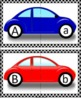 """Letter Match!""   Game for Upper Case and Lower Case Letters - Cars"