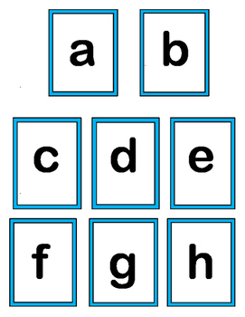 """""""Letter Match!"""" -- Group Game for Upper Case and Lower Case Letters"""