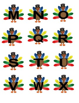 Letter Match Holiday Themed Printables