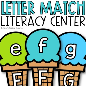 Letter Match Ice Cream Cone Game