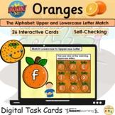 Letter Match Lowercase Uppercase Alphabet Oranges Visual P