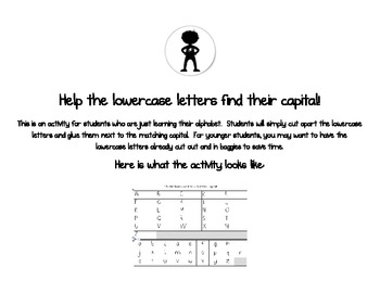 Letter Match (Lowercase to Capital)