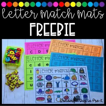 Letter Match Mats FREEBIE