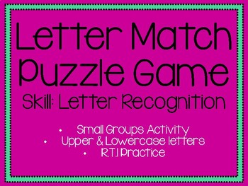 Letter Match Puzzle Game