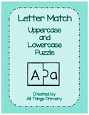 Letter Match Puzzle Uppercase and Lowercase