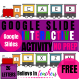 Letter Match Train: FREE Google Slide Interactive Activity