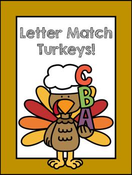 Letter Match Turkeys!