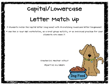 Letter Match Up - Dog Theme