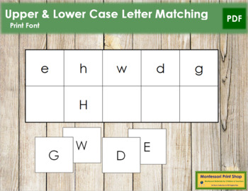 Letter Match - Upper and Lower Case Letters