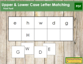 Letter Match - Upper and Lower Case Letters (print)