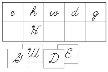 Letter Match - Upper and Lower Case Letters (cursive)