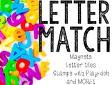Letter Match: Uppercase, Lowercase, & Beginning Sounds Centers