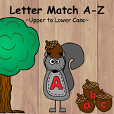 Letter Match Upper Case to Lower Case with Recording Sheet