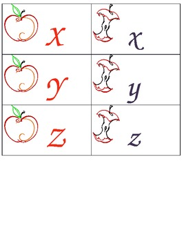 Letter Match apples