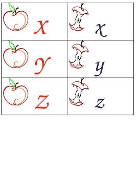 Letter Match apples