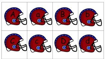Letter  Match--football theme