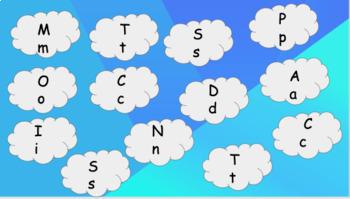 Letter Match for Onset Sounds a, s, m, p, t, i, n, c, o, d