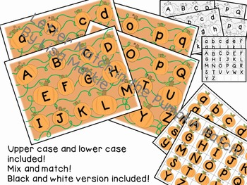 Letter Match in the Pumpkin Patch Matching Activity for Preschool LOW PREP