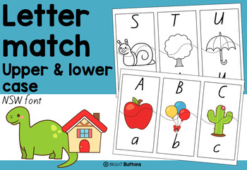 Letter Match - upper and lower case letters - NSW font