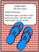 Letter Match with Worksheets - Flip Flop Theme #Sale
