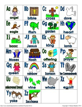 Alphabet Christian Theme Letter Match