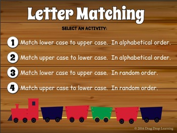 Smartboard Letter Matching Game