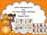 Letter Matching Aa-Zz And Ten Frame Number Matching 1-20 -Pumpkin  Patch