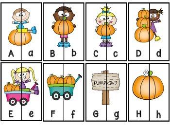 Letter Matching Aa-Zz And Ten Frame Number Matching 1-20 -Pumpkin  Patch