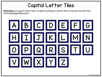 Alphabet Matching Literacy Center: Beginning Sounds - Apples