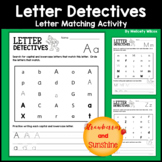 Letter Matching Activity Worksheets