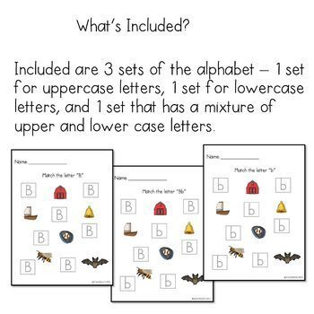 Letter Matching Alphabet for Special Education/Down Syndrome