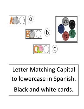 Letter Matching Alphacards (black & white) Spanish only (15 pgs) cscope cc