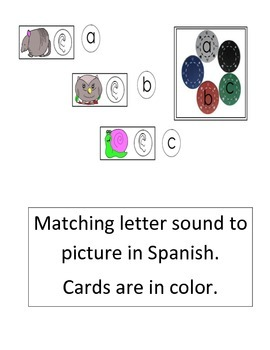 Letter Matching Alphacards (colored) Spanish only (15 pgs) cscope cc