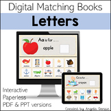 Letter Matching Books | Alphabet | Digital Matching Books for Special Education