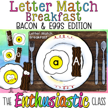FREE Letter Matching Breakfast: Bacon & Eggs Edition