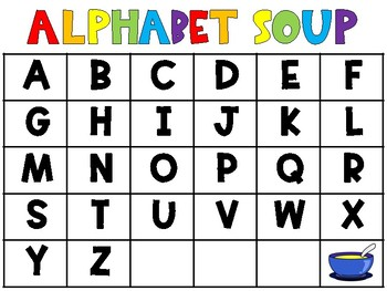 Letter Matching Center - Sopa de Letras/Alphabet Soup