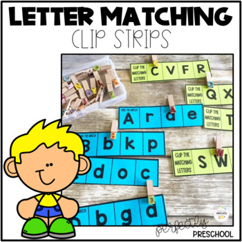 Letter Matching Clip Strips