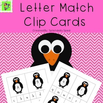 Letter Matching Clip Cards--Penguin Themed
