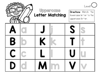 Letter Matching File Folder Activity